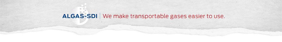 Algas-SDI Transportable Gases banner